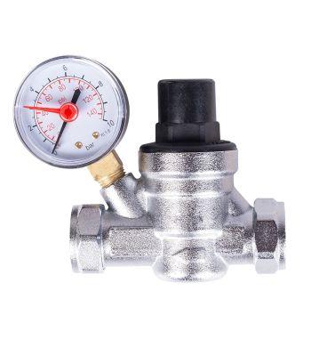 Boiler-m8 22mm Water Pressure Reducing Valve with Gauge